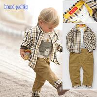 baby boy pijama denim kid roupas infantis menina full roupa set boys striped kid kids tracksuit fashion 3 pcs suits