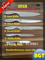 Kitchen Set Vegetables Fruits Dicer Food Slicer Cutter Contain Stainless Steel Knife 430C 2Cr13 Hollow Handle Kitchen Knife Sets