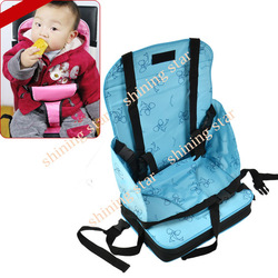 PINK&amp;BLUE Portable Baby Booster Seat Child/Infant seat bag safety car cushion Harness random Straps Carry Bag 5636(China (Mainland))