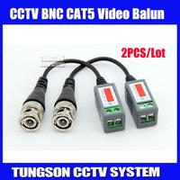 2pcs/lot Twisted BNC Video Balun Passive Transceivers UTP Balun BNC Cat5 CCTV UTP Video Balun up to 3000ft Range,Free shipping