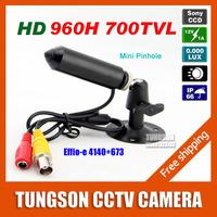 Specialty Genuine Sony 960H CCD Effio 700TVL 0.001LUX Small Pinhole Hidden Video Surveillance Bullet Mini CCTV Camera Security