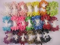 Free shipping wholesale Multicolor DIY Glass flower stamen cake decoration and DIY pistil stamen(800pcs/Lot ) 002008 (11)