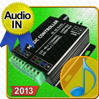 2013 Music Sound Sensitive Controller with Audio IN for RGB LED Light
