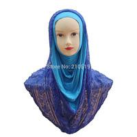 Beautiful 2014 Cotton Lace One piece muslim hijab
