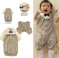 Gentleman baby suit/Baby romper + vest/Autumn hot style