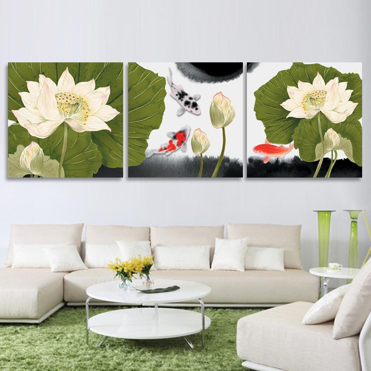 3 PCS/ Set Trigeminy 3D Water Lily Flower Pattern DIY Fabric Craft Unfinished Wall Hanging Picture Hand Make Cross Stitch Kit(China (Mainland))