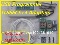 Free Shipping Russian Software IC Clip+V6.0 TL866CS EEPROM PIC AVR TL866 High Speed BIOS USB Universal Programmer+5 IC adapters