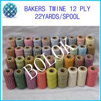 Free shipping Cotton Baker twine (22yard/spool)(26pcs/lot) 36 kinds color  cotton twine wholesale
