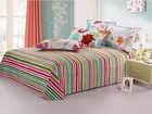 Free Shipping 2013 New Design Colourful Printing/ Striola/Grid Bedding Set/ Bedding Sheet /Bedspread/Bed sheet sets/Bed sheet(China (Mainland))