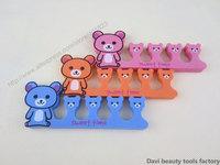 FREE SHIPPING 50 pcs/lot  nail art Little Bear EVA  Soft Finger Toe Separator