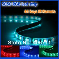 5050 RGB Led Strip flexible led string Waterproof 5M 300 Leds +44 keys IR Remot lamps for home Holidays luminaria Decoration