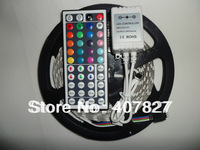 LEDstrip Light RGB Flexible 60led/M SMD5050 300led/5M  NonWaterproof IP33+44Key Remote Controller 12V output Decoration for room