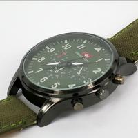 3Models New Arrival Fashion Unisex watchband beard watch mustache watch dress watch GREEN  sports  women+men swiss Free Shipping