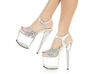 Sexy platform sandals high heels transparent shoes women wedding high heel shoes for women