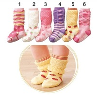CL0109 Free Shipping 6pairs/Lot  Cotton Children Socks Girl Princess Socks Mini Colors, Non-slip bottom Socks Stocking