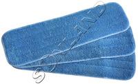 3-pack Deep Clean Mop Head Mops Refill Mop Replacement Pads 45cmx13cm w/ Velcro WET Mops Refill