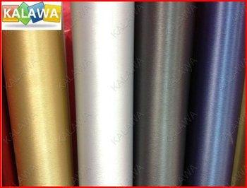 1 PC 1.52*1M Dark Grey Aluminum Brush Vinyl  car wrap color option aluminium vinyl car sticker