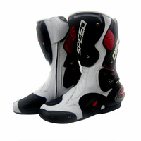 Free shipping 2014 new model  motorcycle boots Racing Boots,Motocross Boots,Motorbike boots SIZE: 40/41/42/43/44/45 [White]