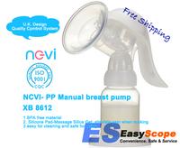 PP Manual breast pump BPA free material, XB8612 Free Shipping