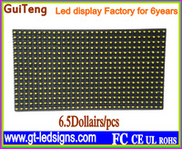Hot selling! Programmable led signs P10 yellow color LED display screen module semi-waterproof 320*160mm