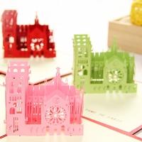 Notre Dame De Paris Handmade Creative Kirigami & Origami 3D Pop UP Greeting & Gift Cards Free Shipping (set of 10)