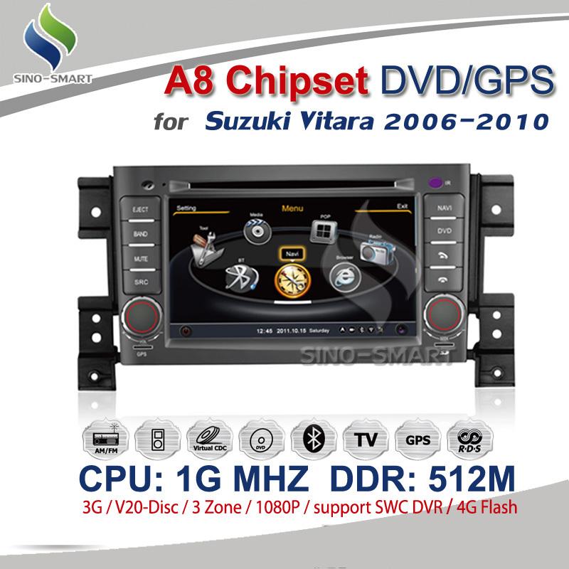Pour suzuki grand vitara 2006-2010 a8 chipsetcouleurs 1080p hd. 1g hz
