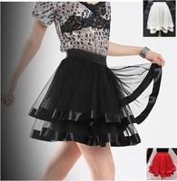3 Colors White Women Black Tutu Mini Skirt Sexy tulle Ballet Belly Dance clubwear Saia faldas Summer Girl Casual Grunge Skirts