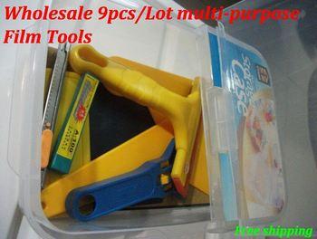 Wholesale10pcs/Lot multi-purpose Film Tools/Applicators squeegee ,vinyle auto vinyl wrap tool  Scraper with nice box packaged