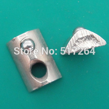 Roll-in T slot nuts Flat,Steel,Nickel Plating,Groove 6 for 20 S