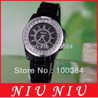 2014 New Arrival Watch Free Shipping Popular Lady Personalized Design Hour Diamond Round Dial Stainless Steel Quartz Wrist Watch