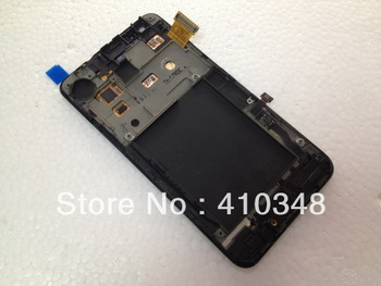 for Samsung i9100 Galaxy S 2 LCD with Touch Screen Digitizer+Frame Assembly Black and White mix Colour free shipping