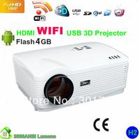 WIFI Projector Flash 4GB 1280*800 WITH HD TV