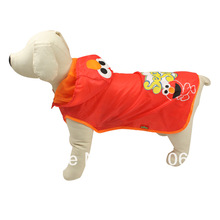 Pink Cartoon Pictures Cute Water Proof Mesh Lining Raincoat Pet Dog Cat Clothes(China (Mainland))