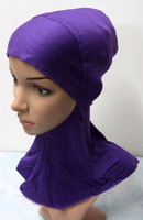 Wholesale/retail high quality cotton muslim inner hats,islamic headgear,scarf,arabic hijab,assorted colors  Free shipping