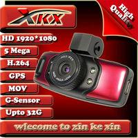 High Quality Ambarella Top program GPS Module Full HD 1920*1080 Car Dvr Camera , Black Box , Recorder GS5000 xkx Freeshipping