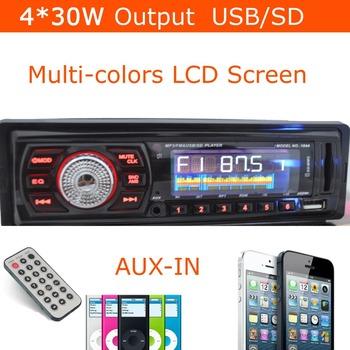 IN Dash 12V Car Audio Car MP3 Player Car Radio USB Flash Drive/SD FM Tuner Stereo 1 Din Universal 4*35W Output Remote Control