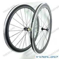 Carbon Alloy Wheels 50mm Clincher Bike Bicycle Wheels Carbon Aluminum Braking 3K Glossy/Matte