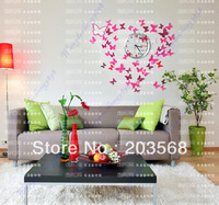 10pcs/lot 3D Wall Sticker Long Wing Butterflies Home Decor Room Decorations Stickers S +Free Shipping