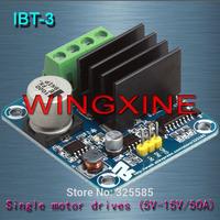 Free shipping,4pcs/lot Brand ,IBT-3 50A H-bridge High-power Motor Driver module/smart car