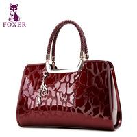 FOXER women leather handbags new 2014 designer brand totes vintage wristlets bag evening bags fashion genuine leather handbag