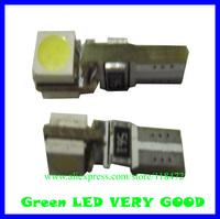 200pcs/lot led car bulb canbus led light  can-T5-2SMD-5050 rpm 12v DC   free shippment