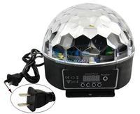 Digital RGB LED Crystal Magic Ball Effect Light Disco DJ Stage Lighting 20W 90-240V Free Shipping 8935