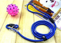 Wholesale Pet Dog P Rope Leashes Training Leads Nylon Braided P Style Rope + Leather Buckle + Metal Ring Free Shipping 50Pcs/Lot(China (Mainland))