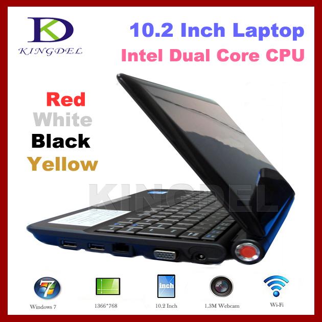 """10.2"""" cheapest notebook Mini Notebook Laptop Intel Atom D2500 1.86Ghz, 2GB RAM, 500GB HDD, WiFi, Webcam, Window 7,4400mAh(Hong Kong)"""