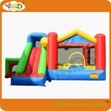 Bounce house_super maison de rebond 9 en 1 avec hop heureux, Drôle de maison pour enfants avec la boîte de basket - ball, Jouets gonflables saut(China (Mainland))