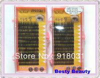 4  tray s MINK Eyelashes Extension Super  black C curl Human Hair Individual false eyelash Fake False Eye Lash Eyelashes