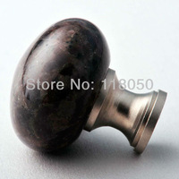 Novelty Items for Kitchen Cabinet,32mm Coffee Granite Brass Knob Stone Knobs Handles,Decorative Furniture Hardware Free Shipping