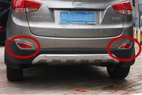 Car rear fog lamp cover fit for Hyundai IX35  ABS chrome car accessories