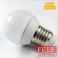 Free shipping 3PCS/lot 3w  5w  7w 100-240V  Globe LED Bulb E27/GU10/B22 lamp Cool/warm White Color Energy Saving Lamp