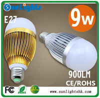 AC85-265V dimmable 15w 12w 9w 3w 5x3w 4x3w 3X3W E27 E14 B22 base type warm / cold white LED bubble ball lamp 982